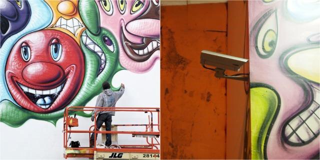 Kenny Scharf Mural Needs Constant Surveillance