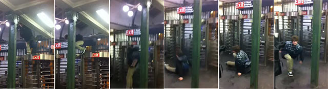 Video: Subway Fare Beating Reaches New Heights