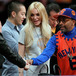 Spike Lee and Lindsay Lohan Courtside