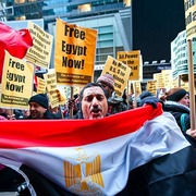 Hundreds Rally In Times Square To Support Egyptian Democracy