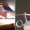 Air France Superjumbo Jet Clips Small Commuter Plane On JFK Airport Runway