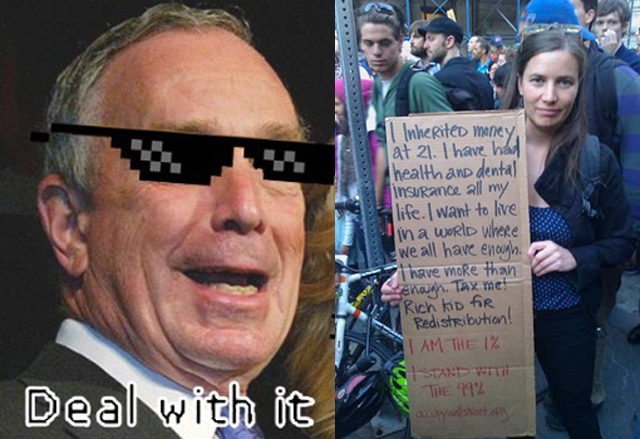 Old Man Bloomberg: Occupy Wall Street Should Stop Being Mean To Rich People