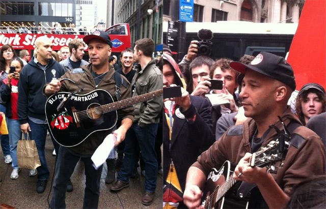 Videos: Tom Morello Rages Acoustically At Occupy Wall Street