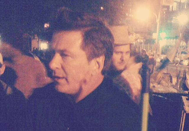 Video: Alec Baldwin Finally Visits Occupy Wall Street, Chats With Ron Paul Fans