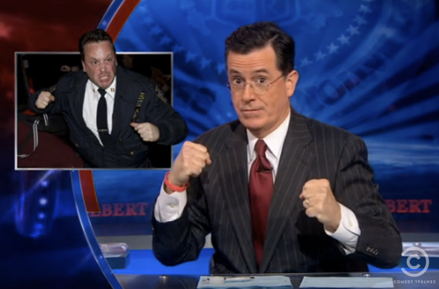 Video: Colbert Praises Bloomberg For Caesarean Removal Of Occupy Wall Street Protesters