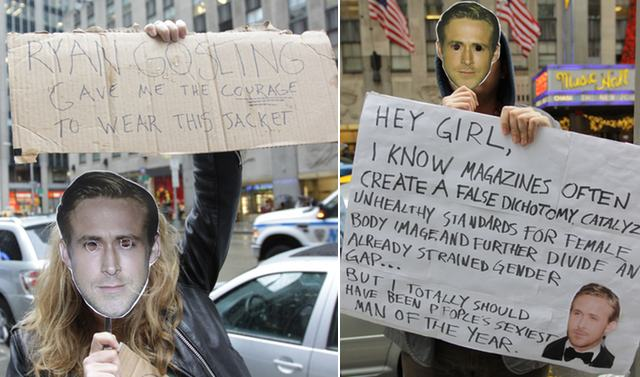 Photos/Video: Protesters Outside Of People Magazine Declare Ryan Gosling Is The