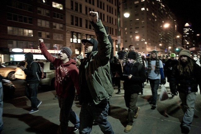 Video: Bottles Tossed In Clash Between NYPD & OWS, 12 Arrested