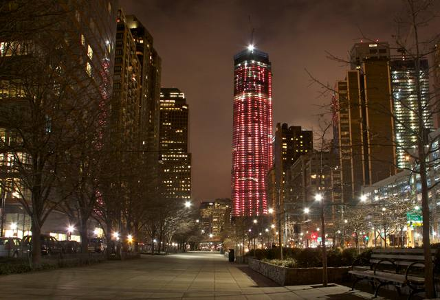 Take That, ESB: One World Trade Center Goes Red For Cardinal Dolan