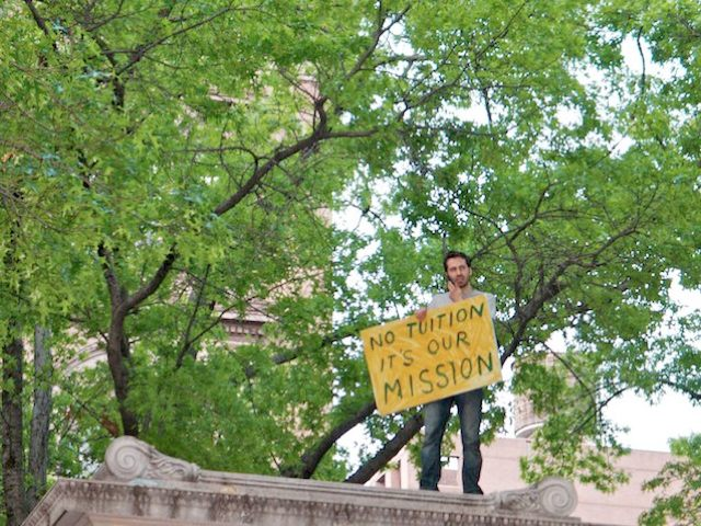 Cooper Union Protester Who Climbed Monument Couldn't Get Back Down