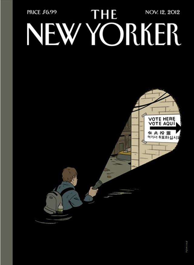 This Week's New Yorker Cover: Hurricane Sandy And The Election