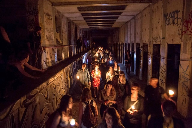 Photos: Inside An Illegal Party In An Abandoned Subway Station Deep Under NYC