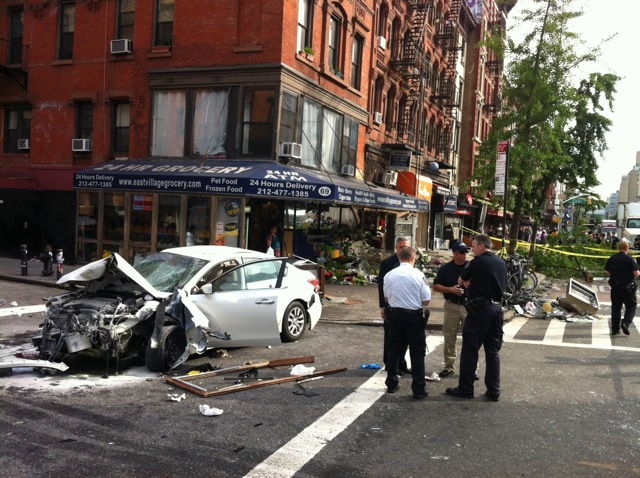 Photos: 8 Injured After Car Jumps East Village Curb, Crashes Into Bodega