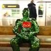 About That Guy On The Bedford L Platform Covered Head-To-Toe In Wrapping Paper
