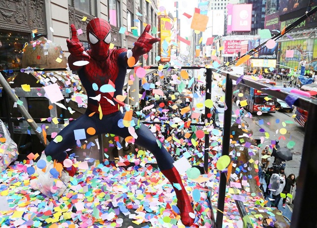 Photos: Spider-Man Confirms New Year's Eve Confetti Can Fly In Times Square