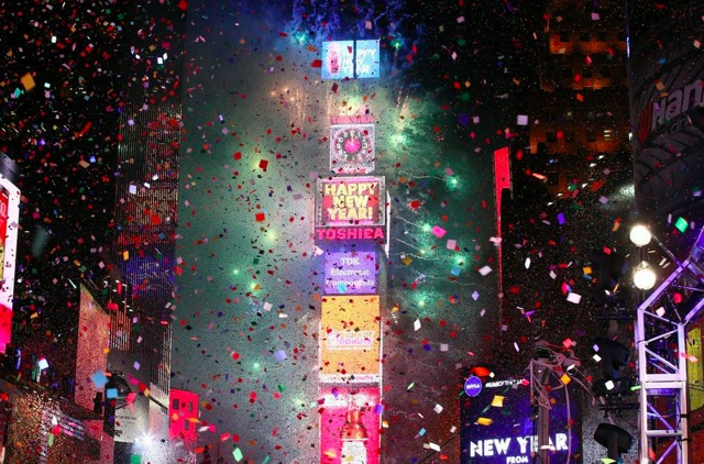Photos, Videos: Freezing Times Square Revelers Ring In 2014