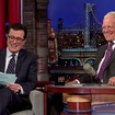 Video: Letterman Welcomes Colbert To Late Show For Ceremonial Selfie