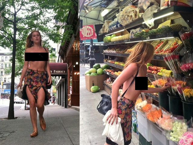 NSFW: Scout Willis Protests Instagram Nipple Ban By Going Topless In NYC
