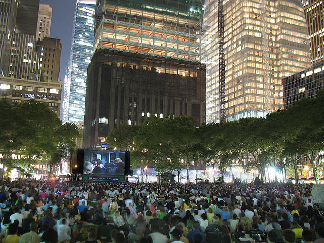 Bryant Park Outdoor Movies Announced