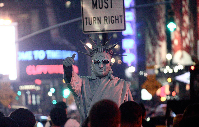 Times Square Statue Of Liberty Arrested For Brawling With Fellow Times Square Statue Of Liberty