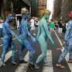 NSFW Photos: Nude Models (In Body Paint) Swarm Times Square