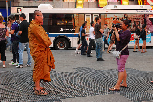 Panhandlers Pretending To Be Buddhist Monks In Times Square