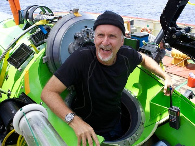 Today: James Cameron And His DEEPSEA Submersible At The Museum Of Natural History