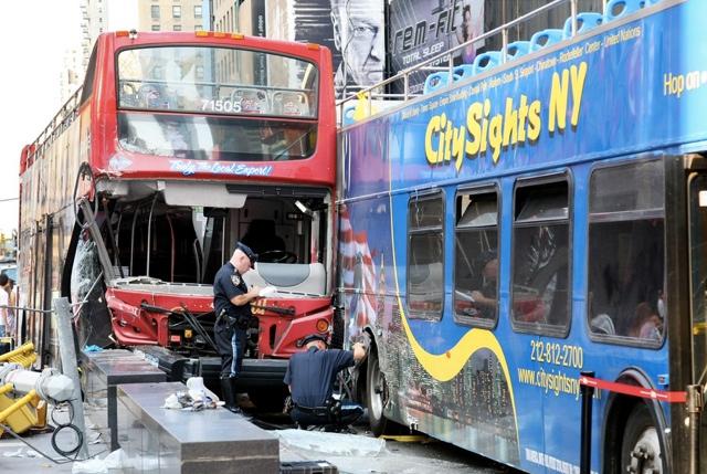 Double Decker Tour Bus Driver Arrested For Times Square Collision