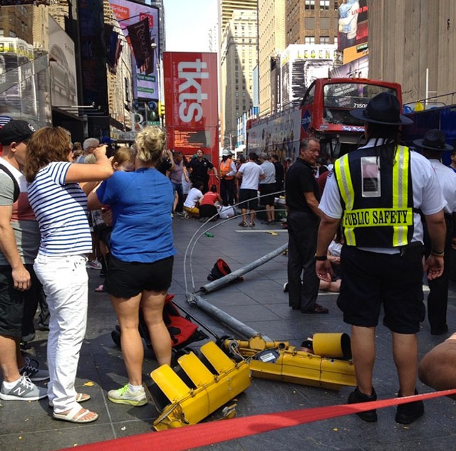 UPDATE: Two Double Decker Tour Buses Collide In Times Square, 11 Injured