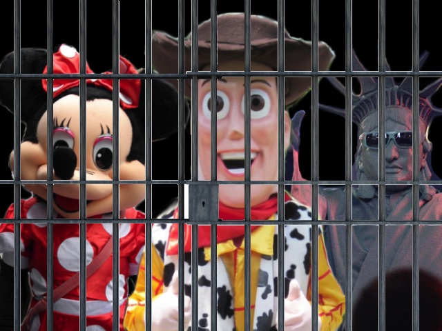 Minnie Mouse, Woody & Statue Of Liberty Arrested In Times Square