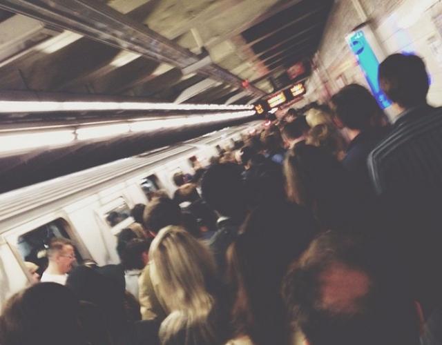 L Train Exodus After Person Falls Onto Train Tracks