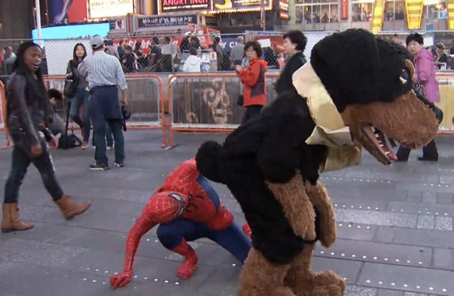 Watch Triumph The Insult Comic Dog Poop On Times Square Costumed Characters