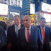 Photo: NYPD Commissioner Bratton Hit With Fake Blood At Times Square Ferguson Protest