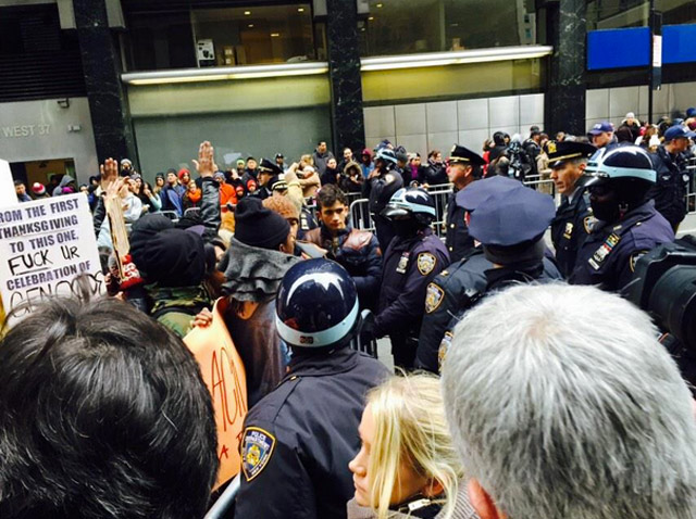 Video: Seven Protesters Arrested At Thanksgiving Day Parade
