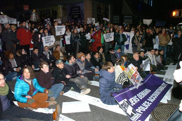 Rabbis Arrested For Civil Disobedience At UWS Eric Garner Protest