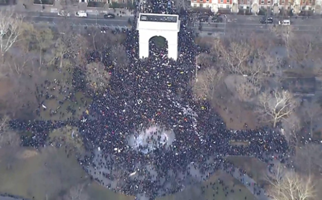 Tens Of Thousands Of Protesters Storm Manhattan For Millions March NYC