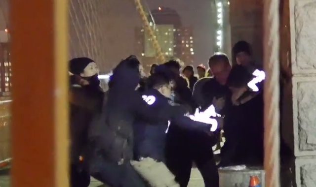 Police Arrest Protester For Allegedly Attacking Cops On Brooklyn Bridge