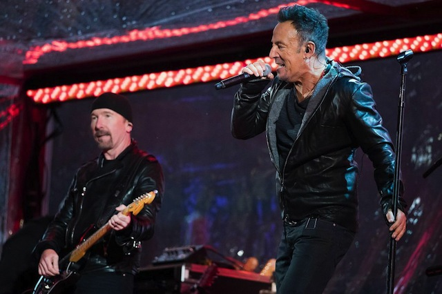 Watch The Boss Belt Out Classic U2 At Last Night's Times Square Concert