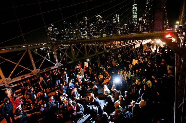Photos: Thousands Rally At Foley Square, Brooklyn Bridge To Protest Eric Garner Decision