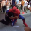 Video: Times Square Spider-Man Gets Into Brawl Outside Toys-R-Us