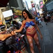 Topless Painted Times Square Lady Blames