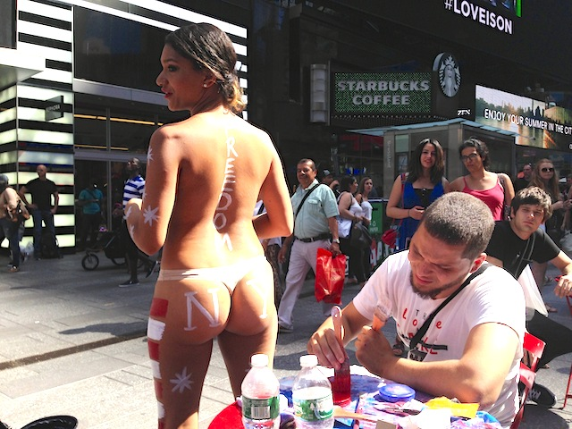 Desnudas Crackdown: NYPD Confiscated Painted Women's Clothing, Questioned Them In Their Robes