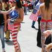 Naked, Painted Ladies In Times Square Say It's Hard Being Naked And Painted In Times Square