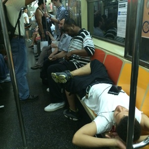 Sociological Study Confirms Men Can't Stop, Won't Stop Subway Manspreading