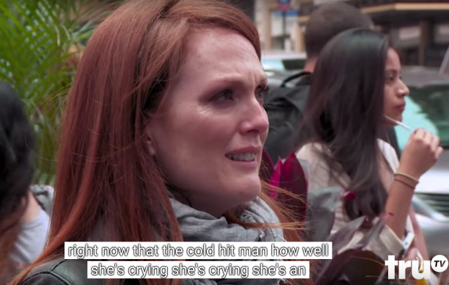 Video: Julianne Moore Puts On Acting Masterclass In Times Square