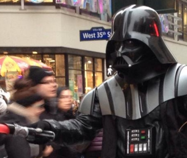 Darth Vader Arrested After Causing A Great Disturbance In Times Square