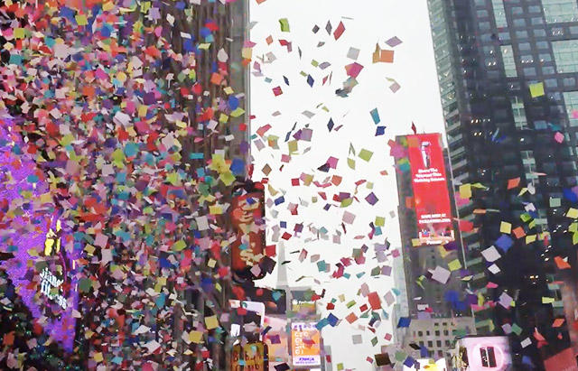 Watch The Pivotal Times Square New Year's Eve Confetti Test