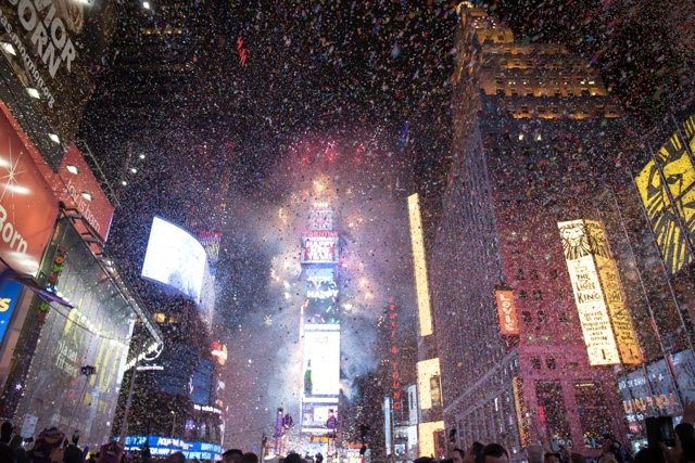 Photos, Video: Welcoming 2016 With One Million Other People In Times Square