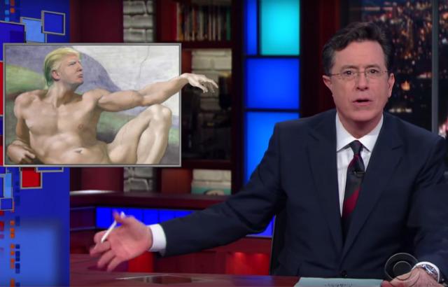 Video: Stephen Colbert Isn't Sure If He's More