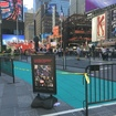 Times Square Designated Activity Cages Now TWO FEET Wider