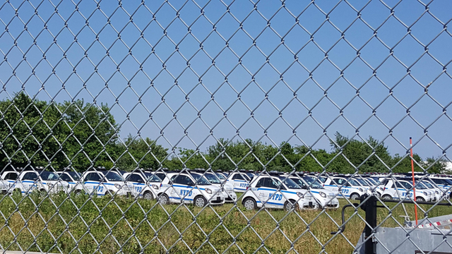 This Darling Photo Of The NYPD's Smart Car Lot Needs A Dumb Caption